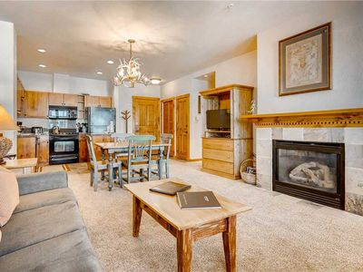Photo for This condo has an outdoor pool & 7 hot tubs, walk to lifts & town, hiking close by