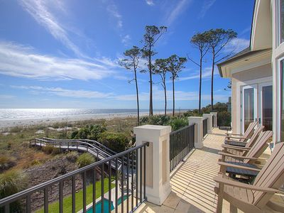 New to VRBO!  Oceanfront Luxury Home in Palmetto Dunes w/ Private Pool & Spa