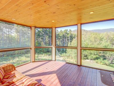 Photo for Spacious home w/ multi-level deck, mountain views, and private hot tub