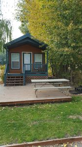 Photo for Deluxe Camping Cabin W/ Private Bathroom at Beautiful Ellensburg KOA Campground