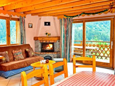 Photo for Surface area : about 92 m². Living room with sofa-bed, fireplace. 2 bedrooms with double bed