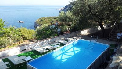 Photo for Casa Papoly (A) large apartment in a private villa with terrace Sea-Capri views