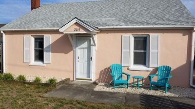 Photo for Vintage beach bungalow. Steps to beach! Bring your dog! New listing!