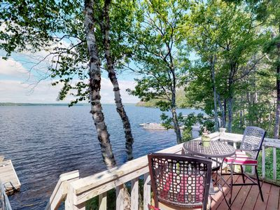 Photo for Historic lakefront lodge w/ dock, decks, firepit & access to beaches/Mt. Kineo!