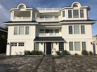 Photo for Mom, dining table for 18! Surf City, 10-12 bdrms, 7 bath, in-ground pool & spa