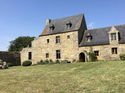 Photo for Authentic 17th century home with vast garden, 4km from the beach.