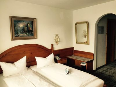 Photo for Standard double room without balcony (H) - Hotel Blaue Gams