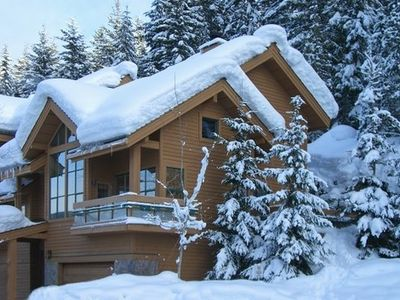 Photo for Whistler Village Luxury Home, Hot Tub, Ski Access, Log Fireplace, Mountain Views