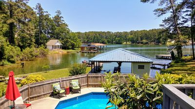 Photo for Sun & Fun! 7 Mins To Downtown, Large Deck, Lake, Pool, Fire Ring, Boat Slip. . .