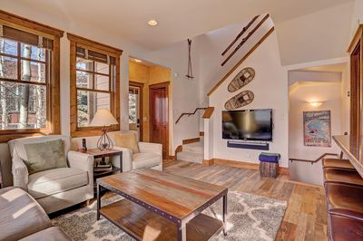Mountain Ridge Chalet - a SkyRun Breckenridge Property - Relax with friends and family in the cozy living room