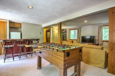 Challenge the kiddos to a friendly game of foosball.