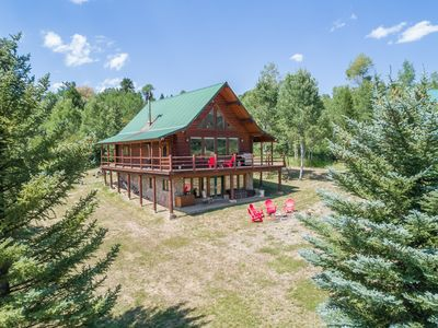 Photo for Beautiful Log Home, Huge Views, Privacy, Fly-fish, Float, Wild Life, Free WiFi