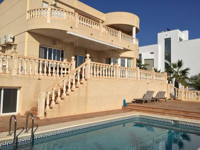 Photo for Luxeuse Villa 10 to 12 people with sea view 200m beach pool