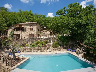 Photo for 3 bedroom Villa, sleeps 6 in Col di Morro with Pool and WiFi