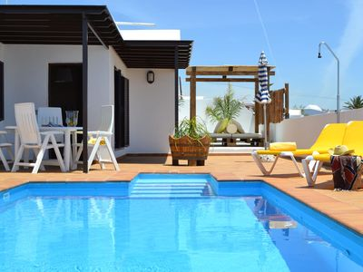 Photo for Villa with chill-out lounge area and private pool on a villa park in Lanzarote