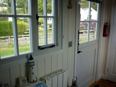 The stable door and window are double glazed