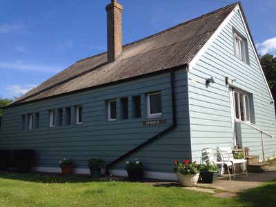 Photo for Charming Seaside Home (Old railway carriages) 50 Yds to Sea, lg private Garden