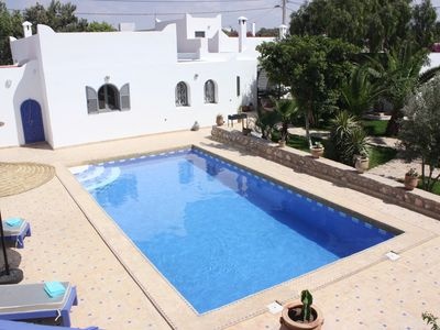 Photo for DAR DO bright Berber house with swimming pool and arborised garden