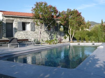 Photo for Modern house with pool in the heart of St Florent