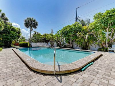 Photo for Serene villa w/ shared pool & terrace - 2 blocks to beach, small dogs welcome!