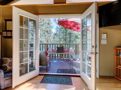 Photo for Cozy, dog-friendly cabin in the woods with privacy - close to adventure