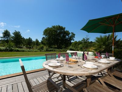 Photo for Villa cosy avec piscine privée | Près du terrain de golf de Moliets
