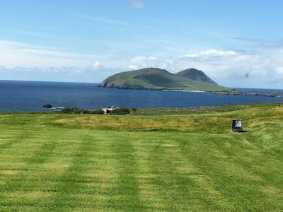 view from the house to the Blasket Islands