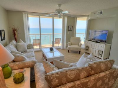 Photo for A gracious, beautifully decorated 3-bedroom overlooking the beach. | Crescent Shores S. - 1611