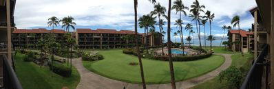 Panoramic view from the lanai in the morning