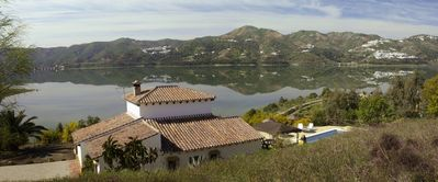 Photo for House in the Pantano de la Viñuela with unbeatable views over the reservoir
