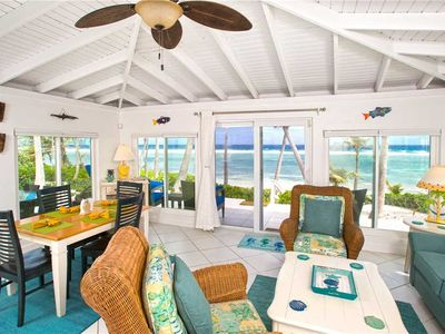 Photo for Cool Change: Cozy Rum Point Cottage on Beautiful Beach with Awesome Snorkeling!