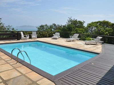 Photo for Beautiful villa with fantastic view to the sea and beaches