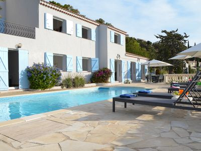 Photo for Large Villa With Private Pool And Stunning Sea Views Over The Gulf Of St Topez
