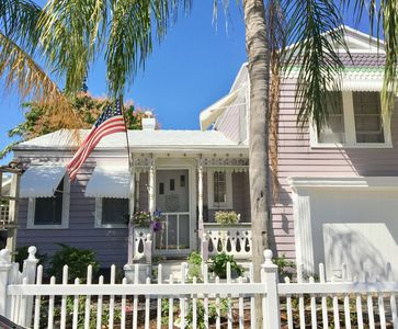 Photo for DOWNTOWN LAVENDER HOUSE FARMHOUSE COTTAGE PARROT COVE WALK TO BEACH BARS DINING