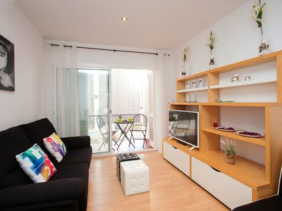 Photo for One bedroom Apartment, sleeps 4 in Sitges with Air Con and WiFi