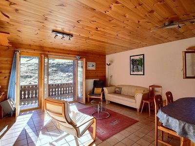 Photo for SKI-IN / SKI-OUT on the slopes in Les Crosets, 2 bedrooms, wifi, parking space in the garage (6-W)