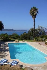 Photo for Large and nice villa with pool, sea view, 219 yards away from the beach
