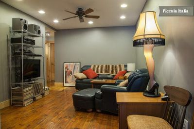 Rustic blends with contemporary in this two bedroom one bath vacation home.
