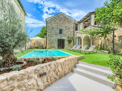 Photo for Rustic villa with private pool near Crikvenica