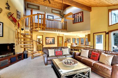 Fun interior additions make this cabin a great choice for everyone