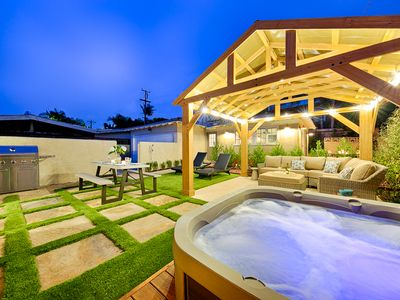 Photo for 20% OFF JULY! Beach Bungalow w/ Casita, Private Patio, Firepit & SPA
