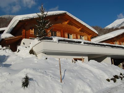 Photo for Luxury Traditional Wooden Swiss Chalet Near Ski Slopes, Now With Private Sauna