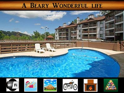 Photo for A Beary Wonderful Life - 2 min to Gatlinburg / Pool Access / WiFi / See Space Needle