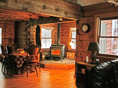 Photo for Huge log cabin, great for groups, perfect spot for Salmon fishing stay