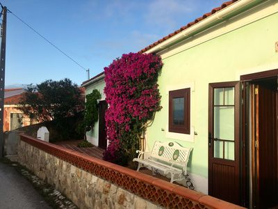 Photo for Typical old Portuguese farmhouse, quiet, large terrace, close to the beach