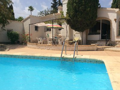 Photo for Lovely 4 bedroom villa five minutes drive from sandy beach - sleeps up to 8