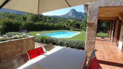 Photo for Spacious villa with pool on French Riviera. Peaceful and 15 minutes from coast