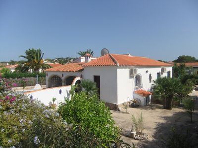 Photo for Beach Sea and Sunshine Lovely private house with pool, flat garden and sleeps 8