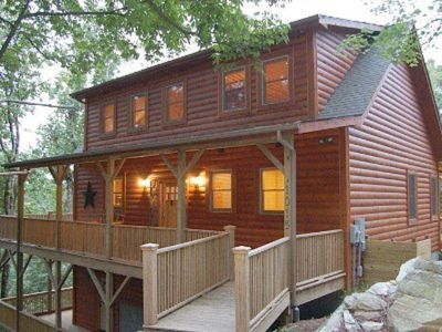 Photo for Grandfather & Lake Views, Luxury Cabin! 4BR, Loft, Hot Tub, Pool Table, Pets, AC