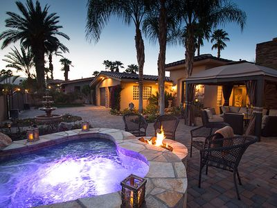 Photo for Upscale Indian Wells villa with private pool, 2 spa's & gorgeous mountain views
